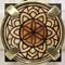 Fiore di vita Mandala chiaro